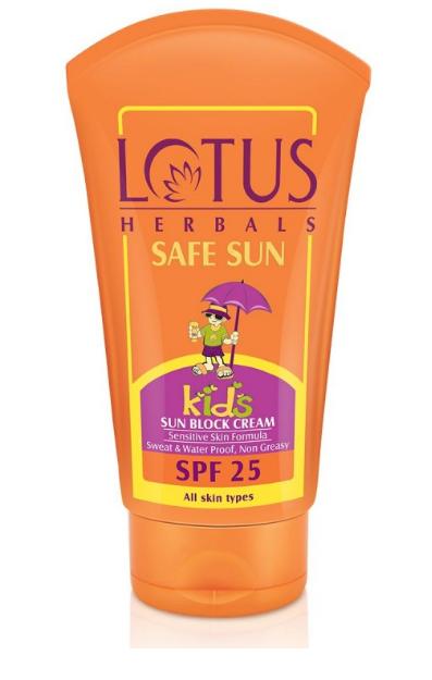 .Lotus Herbals Safe Sun Kids Sun Block Cream SPF 25