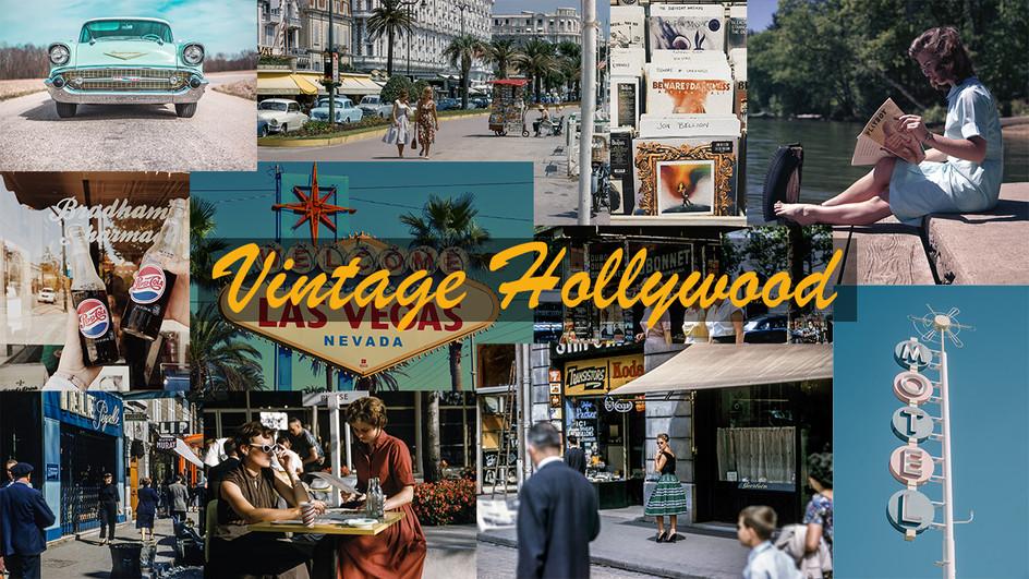 Vintage Hollywood Mood Board