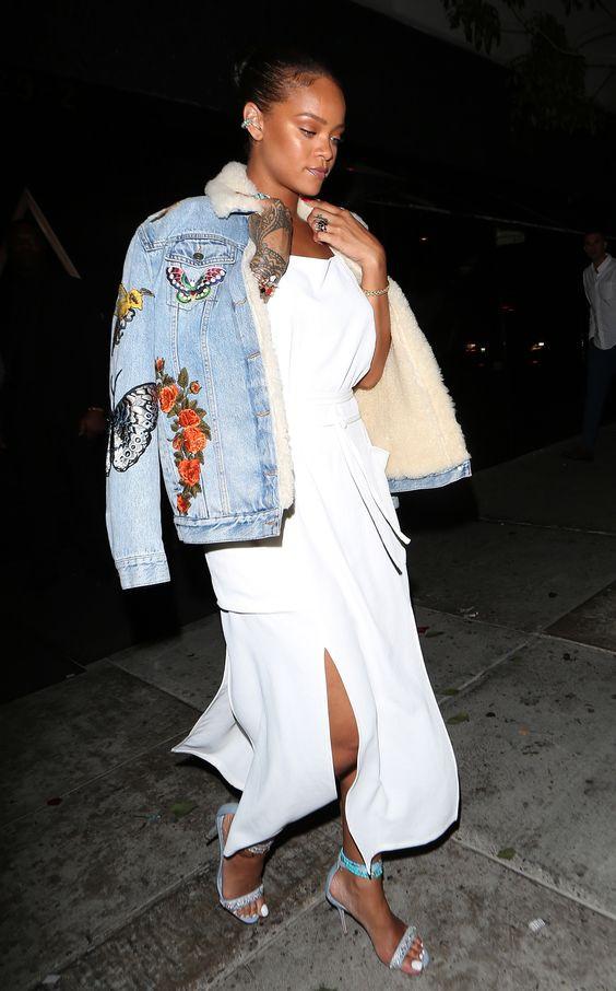 Rihanna denim jacket