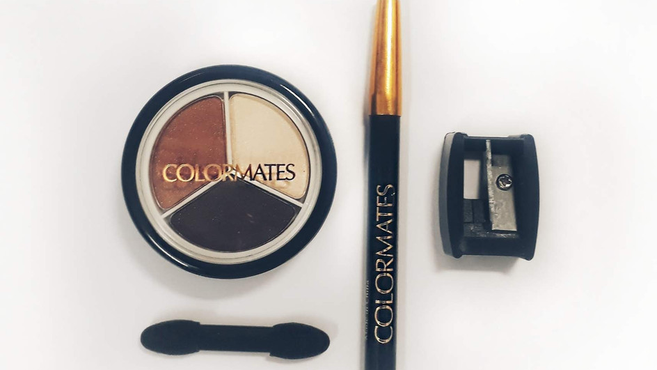 Colormates eyeshadow and eyeliner- shades of seude review