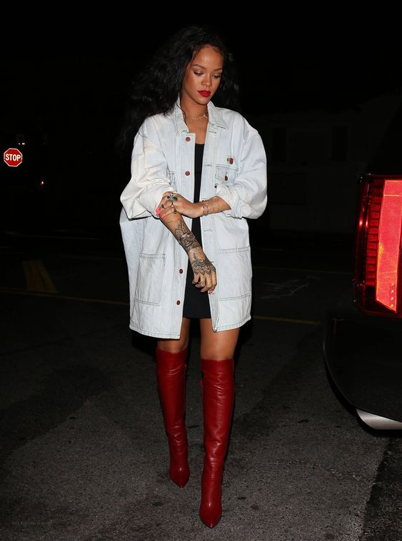Rihanna oversized jacket