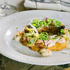Салат с мурманской треской и печеным картофелем