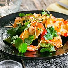 Вегетарианский салат из баклажан