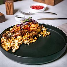 Корнишон цыпленка с попкорном из кукурузы