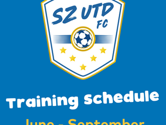 Training Schedule - Now, Pre-Season and New Season