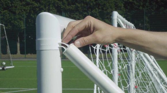 Quickplay Combo Q-Fold 12x6' Folding Football Goal and Target Sax age 7+
