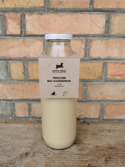 Bio Hafermilch im Glas