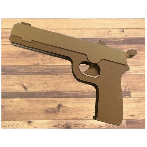 ダンボール製のゴム式銃