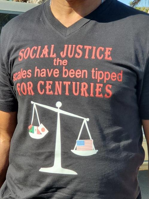Men's Black Social Justice T-shirt