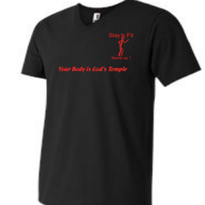 Men's Black with Red T-shirt