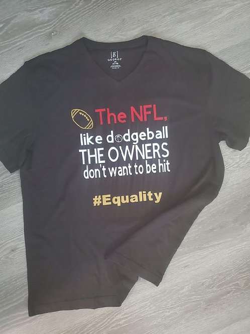 Men's Black with #equality T-shirt