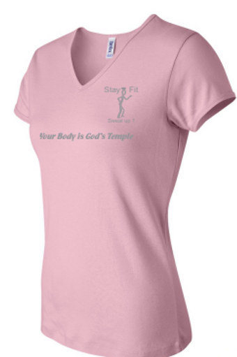 Women's Pink with Silver T-shirt