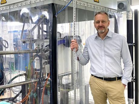 VOLVO CE brand new Hydrogen Fuel Cell Test Lab