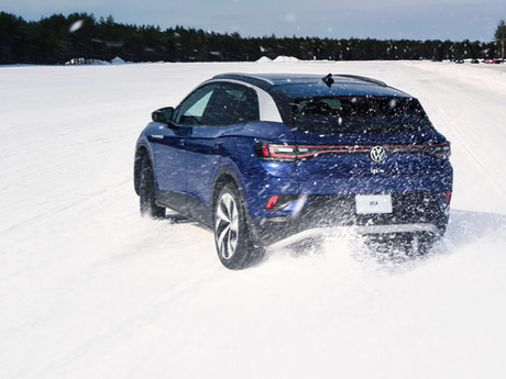 Tanner Foust puts the next-generation Golf R to the test at Smithers Winter Test Center in Michigan'