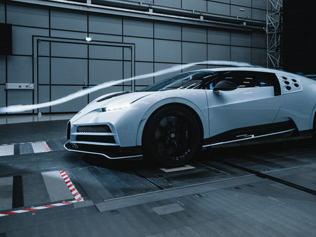 Bugatti provides details of the recently completed Wind Tunnel Tests of its Centodieci model.