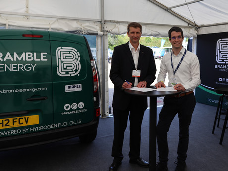 Fuel Cell Demonstrator Vehicle, presented by MAHLE Powertrain and Bramble Energy