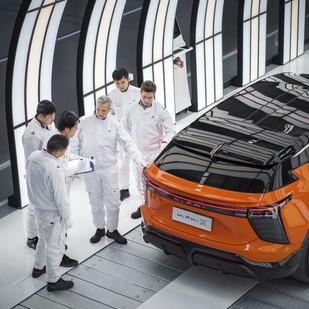 La fábrica inteligente de Human Horizons - la fabricación inteligente de vehículos