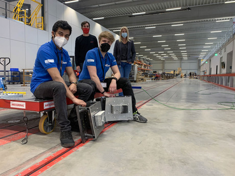 The Duisburg-Essen Formula Student: E-Team, conducts crash tests at the MESSRING facility.