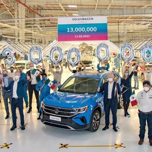 Volkswagen de México establece un nuevo récord de producción