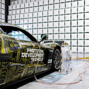 ElectroMagnetic compatibility testing carried out by Croation hypercar manufacturer Rimac.