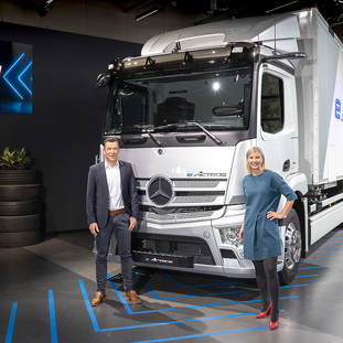 Fully Electric Mercedes-Benz Trucks, and innovation enabling cleaner road-freight.