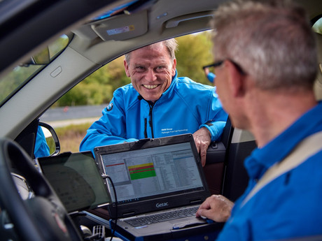 Routine testing of BMW i Hydrogen NEXT with hydrogen fuel cell drive train begins.