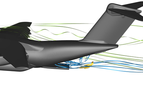 DLR simulates the dropping of a UAV from a flying Airbus A400M