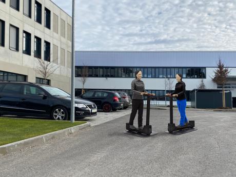 Neues Target zur Steigerung der Sicherheit von Elektrokleinstfahrzeugen im Straßenverkehr