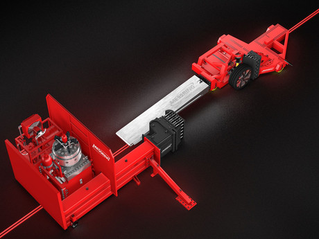 Deceleration Sled enables small overlap test scenarios for chassis without destroying entire vehicle