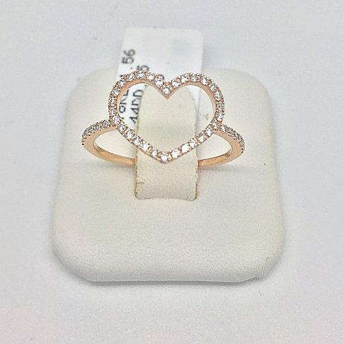 Designer Diamond Heart Ring