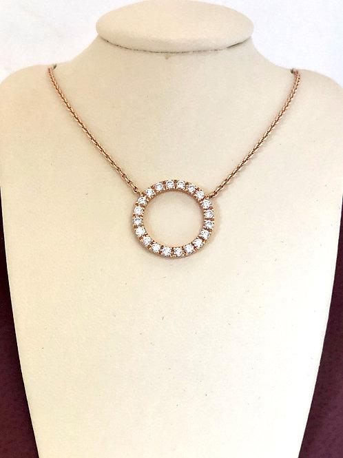 Diamond Pendant In 14kt Rose Gold