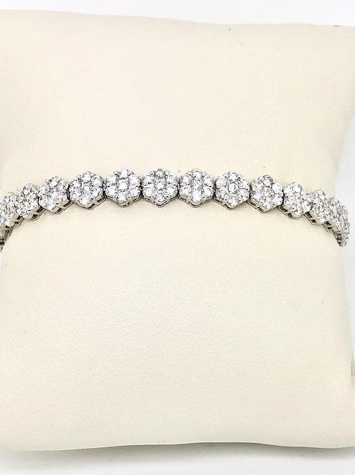 Ladies 18kt White Gold Diamond Bracelet