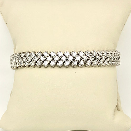 Ladies 14kt White Gold Diamond Bracelet