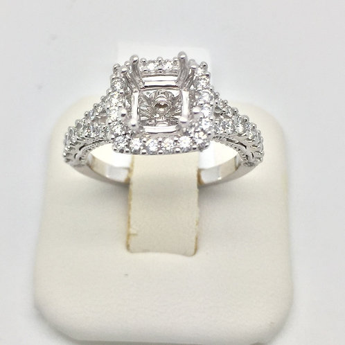 Diamond Engagement Halo Setting