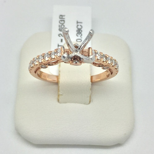 Diamond Engagement Setting in Rose Gold