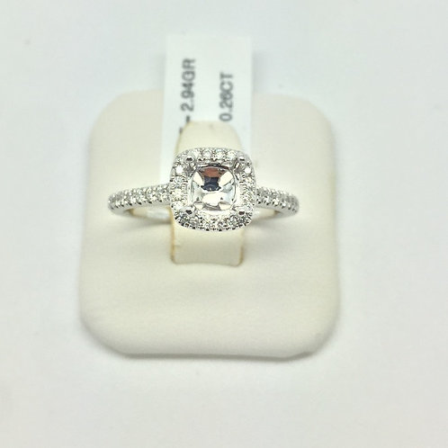 Diamond Engagement Halo Setting