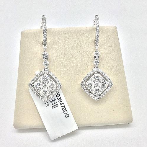 Hanging Diamond Earrings