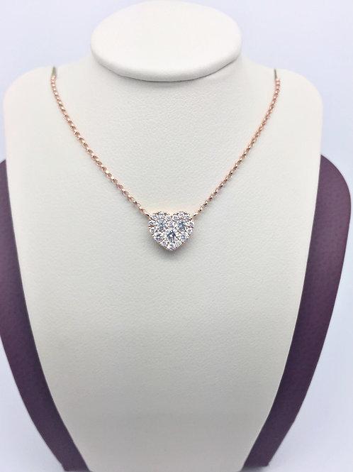 Diamond Pendant in 18kt Rose Gold