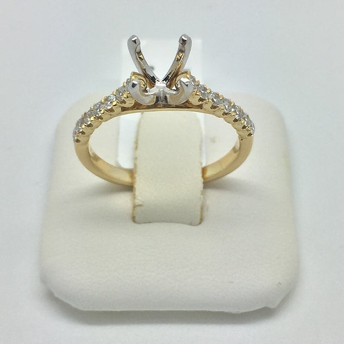 Diamond Engagement Setting in Yellow Gold