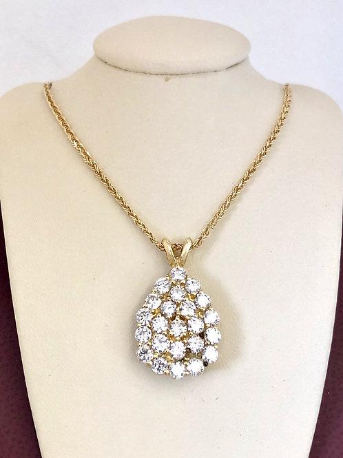 Diamond Pendant In 14kt Yellow Gold