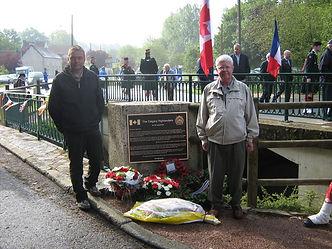 Ron beside Calgary Highlanders monument.