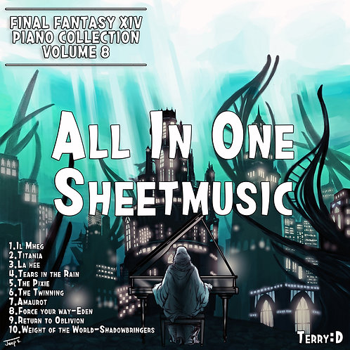 Final Fantasy XIV Piano Collection, Vol. 8 All in one Sheetmusic+MIDI