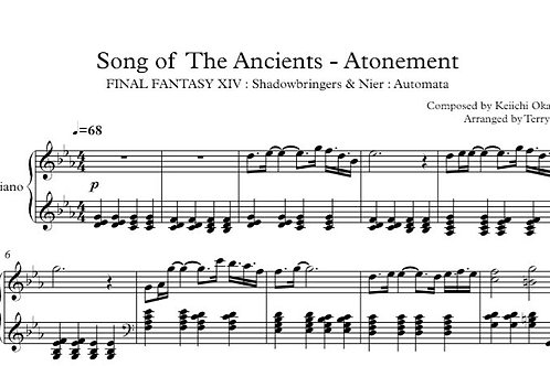 Song of The Ancients - Atonement(Sheetmusic+MIDI) for piano solo