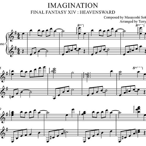 IMAGINATION for piano solo(Arr.by Terry:D) FINAL FANTASY XIV