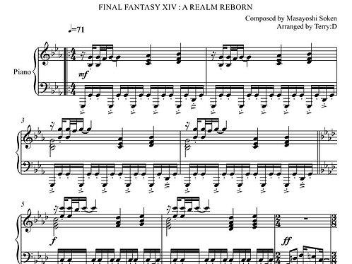"""""""A Fine Death"""" for piano solo from FINAL FANTASY XIV : A REALM REBORN."""
