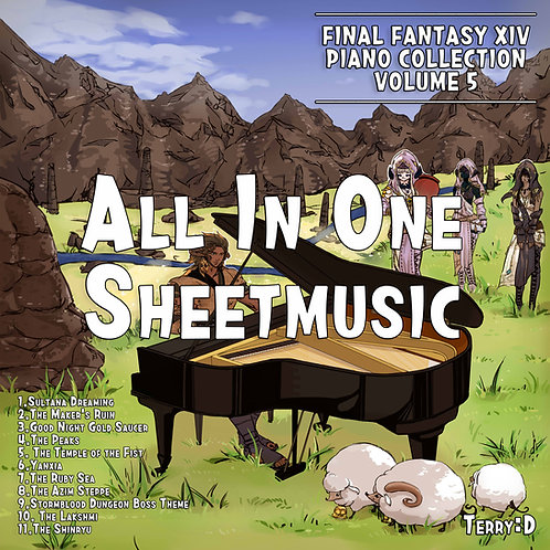 Final Fantasy XIV Piano Collection Vol.5 by Terry:D. ALLINONE SHEETMUSIC