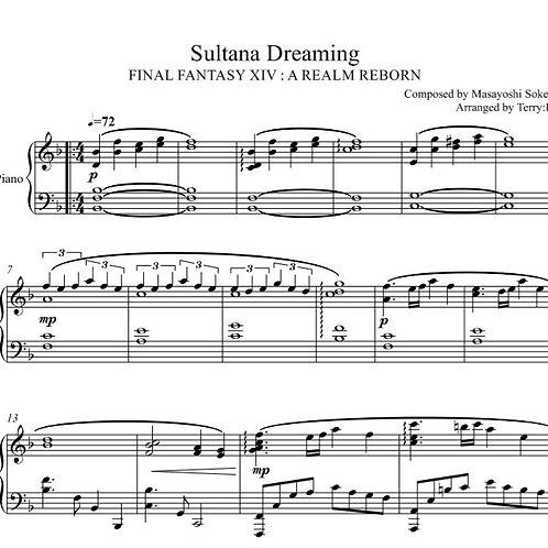 Final Fantasy XIV : Sultana Dreaming (Ul'dah theme) for piano solo
