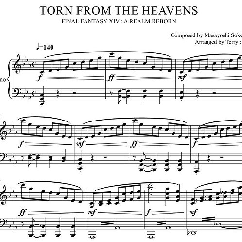 """""""Torn From the Heavens(Arr.by Terry:D)""""for Piano solo from Final Fantasy XIV"""