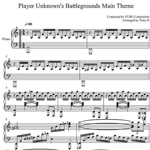 PLAYERUNKNOWN'S BATTLEGROUNDS(PUBG) -Lobby Theme for piano solo.  배틀그라운드 로비테마 피아