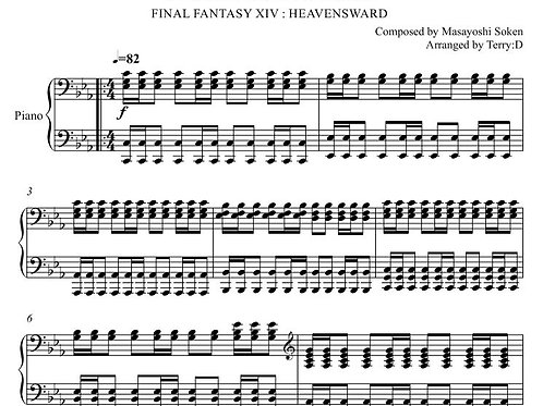 """""""Stone and Steel(Arr.by Terry:D)"""" for Piano solo from FFXIV : HEAVENSWARD"""